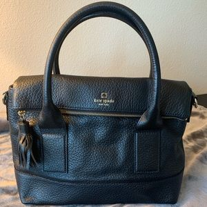 Kate Spade Fold Over Purse in Pebbled Leather